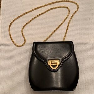 Frenchy of California Vintage Black Leather Bag.